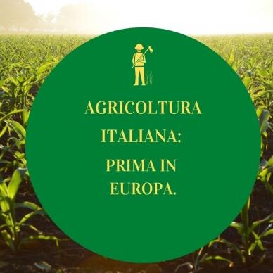 AGRICOLTURA ITALIANA: LA PRIMA IN EUROPA